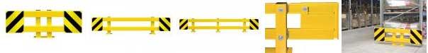 Black Bull Pallet Rack End Frame Protectors - Type A