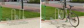 High Security Bike Rack - Single-Sided